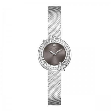 """Montre Hortensia """"Eden""""-LAQUE Taupe-Cadran Diamant"""