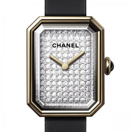Montre PREMIÈRE Velours - Or jaune et titane, cadran serti de diamants taille brillant - CHANEL - Vue par défaut