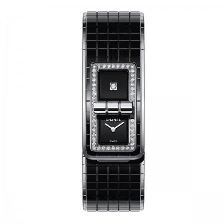 Montre CODE COCO - Céramique haute résistance et acier, diamants - CHANEL - Vue par défaut - voir la version taille standard