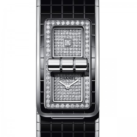Montre CODE COCO - Acier, céramique haute résistance et diamants - CHANEL - Vue par défaut - voir la version taille standard