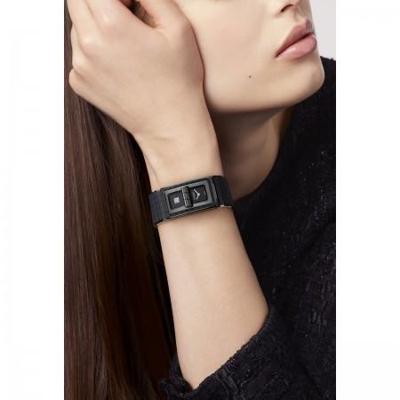 Montre CODE COCO So Black - Céramique haute résistance noire et acier - CHANEL - Vue portée