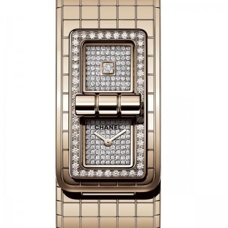 Montre CODE COCO - OR BEIGE et diamants - CHANEL - Vue par défaut - voir la version taille standard