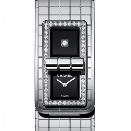 Montre CODE COCO - Acier serti de diamants - CHANEL - Vue par défaut - voir la version taille standard