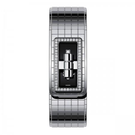 Montre CODE COCO - Acier serti de diamants - CHANEL - Autre vue - voir la version taille standard