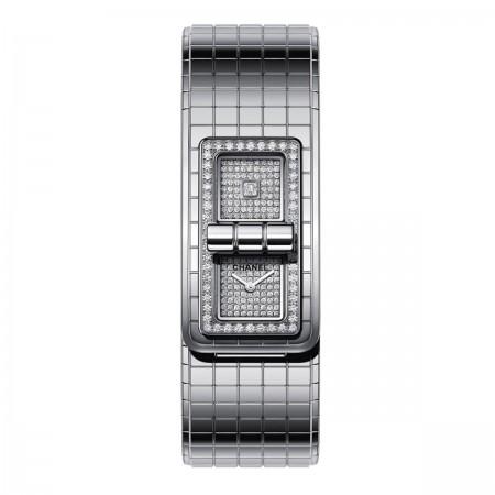 Montre CODE COCO - Acier et diamants - CHANEL - Vue par défaut - voir la version taille réelle