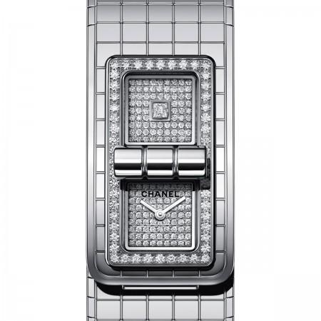 Montre CODE COCO - Acier et diamants - CHANEL - Vue par défaut - voir la version taille standard