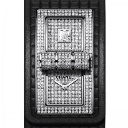 Montre CODE COCO - Or blanc 18 carats serti de diamants - Vue par défaut -