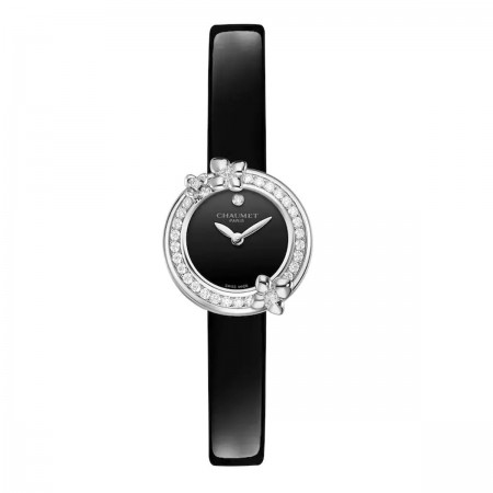 Montre Hortensia Eden-Bracelet Cuir De Veau Vernis
